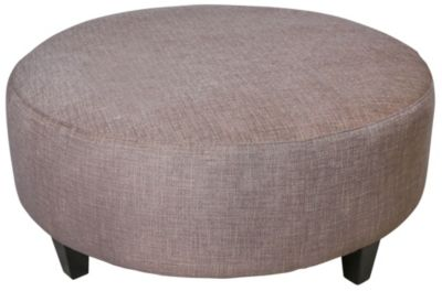 Jonathan Louis Large Round Ottoman Homemakers Furniture