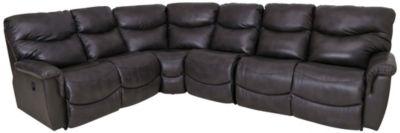 la z boy james 4 piece leather reclining sectional
