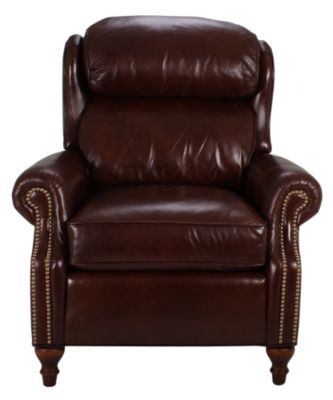 Smith Brothers 932 Collection 100 Leather Recliner