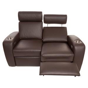 Palladio Napoli Love Seat Home Cinema Seating Brown Reclined