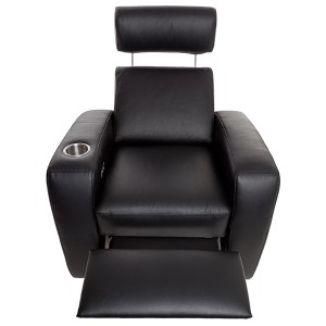 Palladio Napoli Single Seat Home Cinema Seating Black Reclined