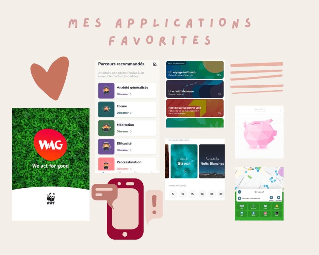applications mobiles favorites