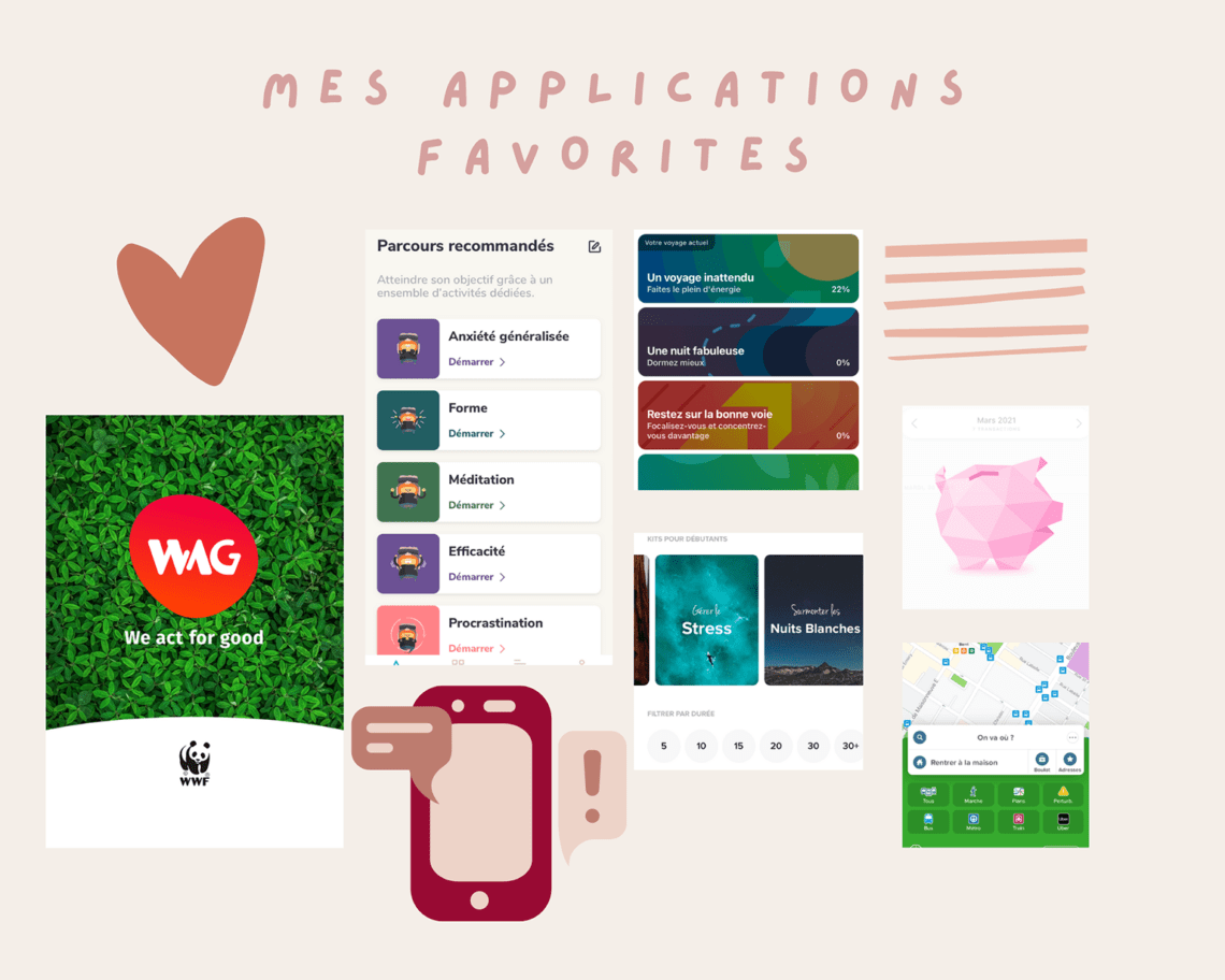 applications mobiles favorites