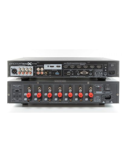 Emotiva BasX MC-700 házimozi processzor és Emotiva A-700 7 csatornás végerősítő