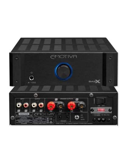 Emotiva BasX A-100 sztereó erősítő + Bluesound Node 2 hálózati lejátszó szett