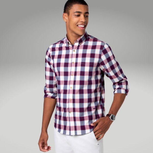 Peças básicas do guarda-roupa masculino - camisa xadrez - Único