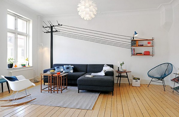 Small Apartment With Living Room Decorating