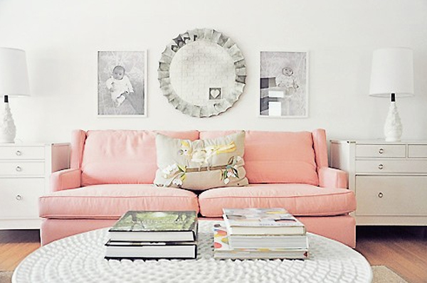 Cool And Modern Pastel Living Room Design