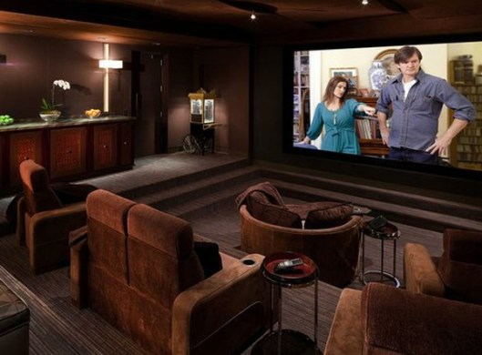 15 Cool and Minimalist Home Theater Design with Sofa Furnitures     Build a home theater