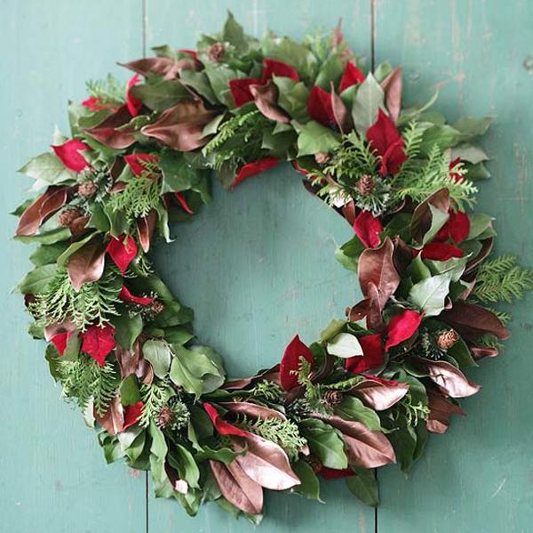 Green Christmas Wreath Ideas For Door Decorations