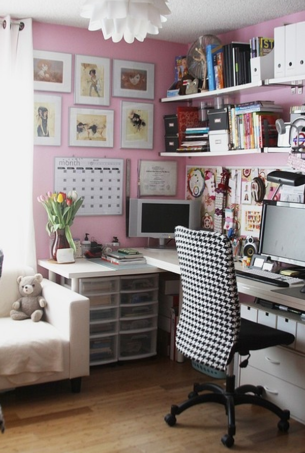 17 Pink Office Ideas   Cute Space For Girl   Home Design And Interior 17 pink office decor for girl