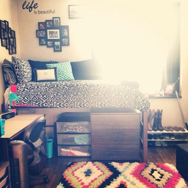 College apartment bedroom decorating ideas for Bedroom designs for college students
