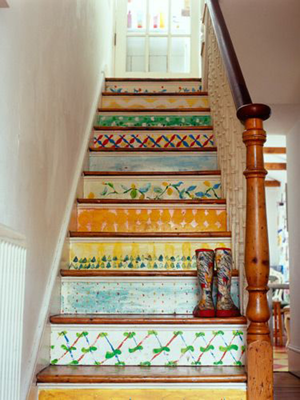 25 Pretty Painted Stairs Ideas Home Design And Interior