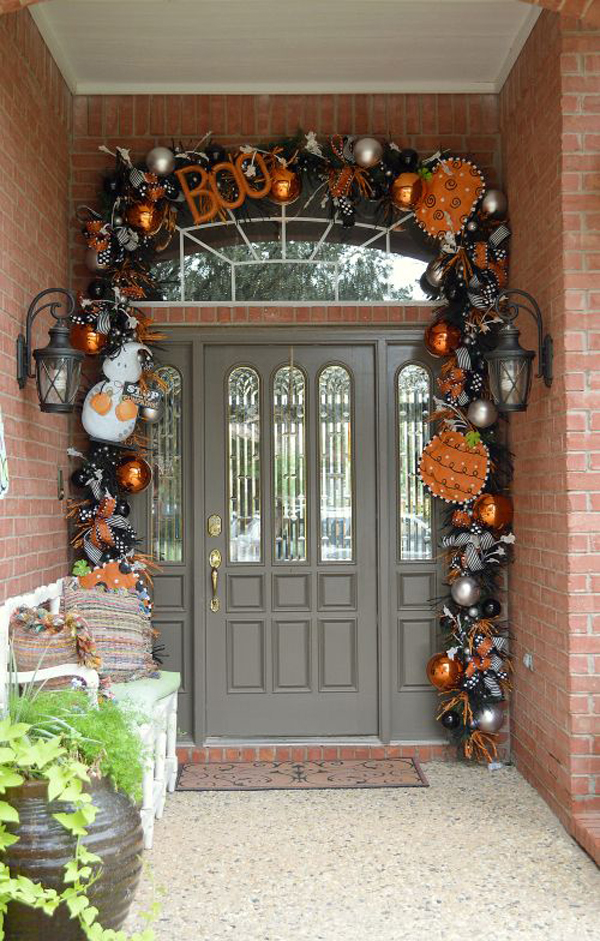 35 Awesome Halloween Front Door Ideas Home Design And