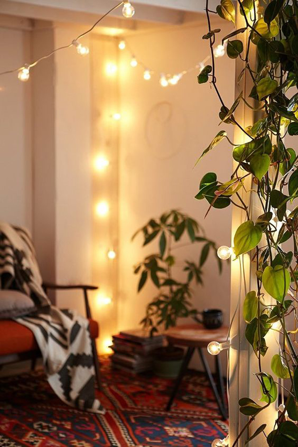 22 Delightful DIY String Lights In The Bedroom Home