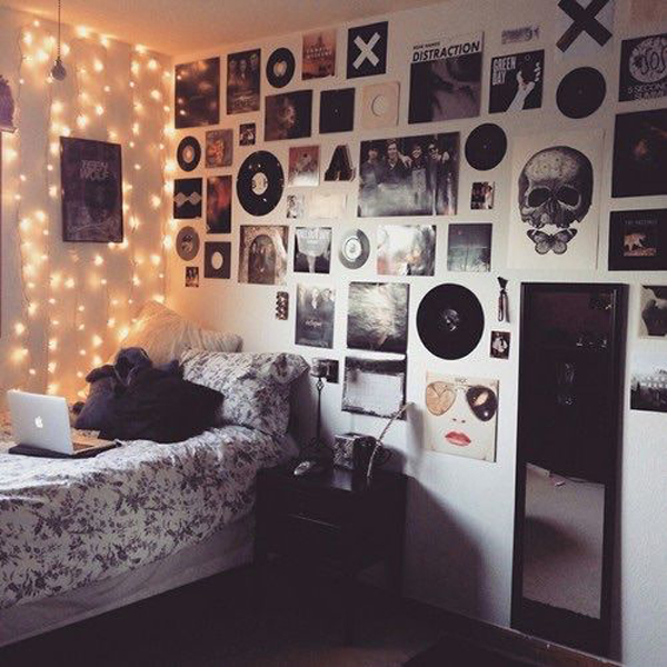 Hipsters And Grunge Bedroom Lighting