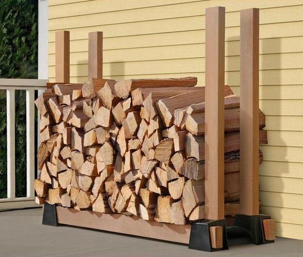 20 Excellent DIY Outdoor Firewood Storage Ideas Home