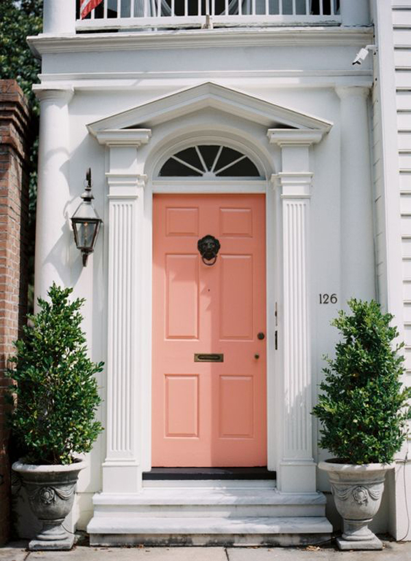 25 Eclectic Front Doors With Pastel Colors Home Design And Interior