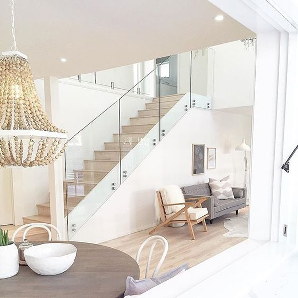 Stair Railing Ideas Homemydesign Homemydesign | Stair Railing Design Glass | Basement Stairs | Modern Staircase | Stair Treads | Oak Staircase | Stainless Steel Railing