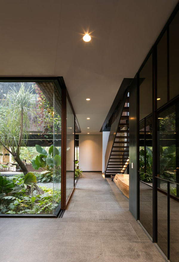 Indoor Glass Hallway With Nature View