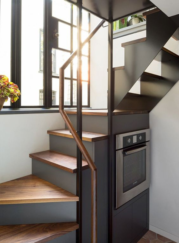 25 Awesome Staircase Design For Small Saving Spaces Homemydesign | Stairs For Small Spaces | Modern | Living Room | Beautiful | Design | Metal