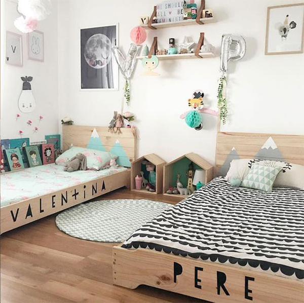 32 Adorable Shared Kids Bedroom For Boys And Girls Homemydesign