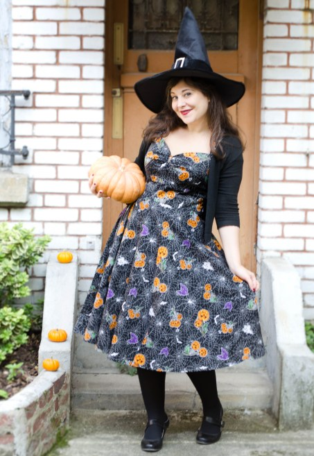 robe-pinup-halloween-harlow-50s-hell-bunny-dress-pumpkin