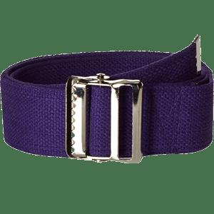 Prestige-Medical-Cotton-Gait-Belt-with-Metal-Buckle-Purple