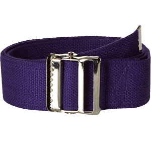 Prestige-Medical-Cotton-Gait-Belt-with-Metal-Buckle-Purple
