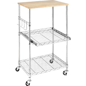 Whitmor-Supreme-Microwave-Cart-Wood-&-Chrome-F