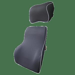 LoveHome Car Lumbar Support Pillow and Car Headrest Neck Pillow Kit - Ergonomically Design Universal Fit Major Car Seat - Black