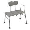 Plastic Tub Transfer Bench - Adjustable Backrest