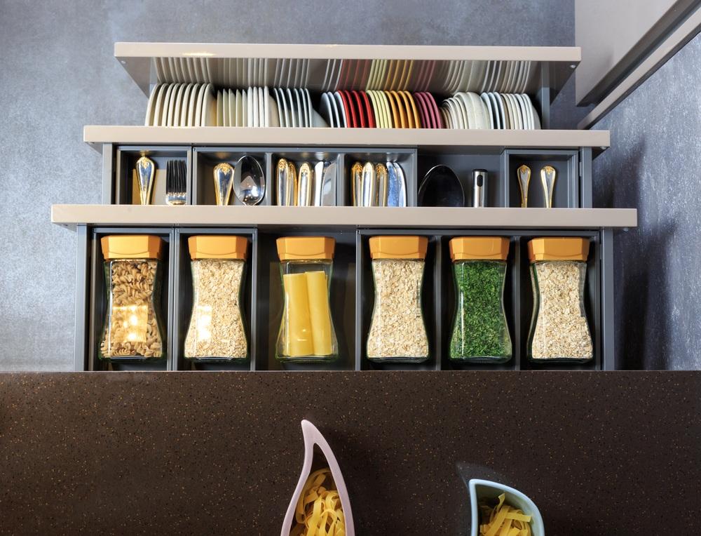 organized kitchen racks