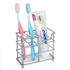 HBlife-Stainless-Steel-Bathroom-Toothbrush-Holder-Toothpaste-Holder-Stand