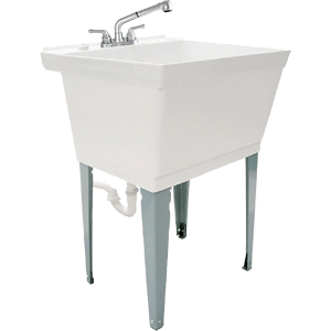 LDR-040-6000-Complete-19-Gallon-Laundry-Utility-Tub-with-Pull-Out-Faucet-