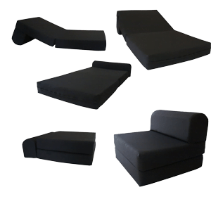 Black-Sleeper-Chair-Folding-Foam-Bed-Sized