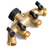 Glorden Heavy Duty Brass 4 Way Hose