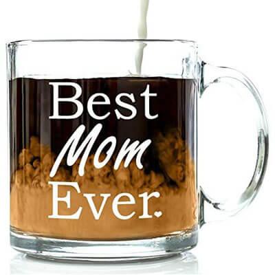 Best Mom Ever Glass Coffee Mug 13 oz