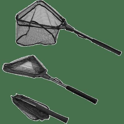 PLUSINNO Fishing Net Fish Landing Net, Foldable Collapsible Telescopic