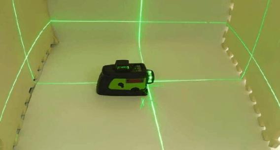 Laser level set up