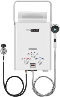 VIVOHOME Outdoor Portable 1.6GMP 6L Propane Gas Tankless Water Heater