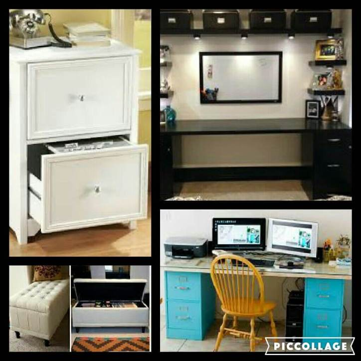 Many options for creating a filing system that works with your decor and function of your home