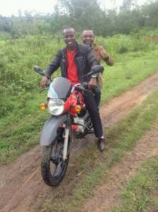 motorcycle riding rider bienfait christian congo motorbike motor gang road leaders hoh homeofhope brian thomson