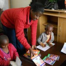 beatrice teacher kindergarten dream centre center nairobi kenya africa daniel diana bushebi home of hope brian thomson