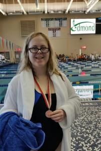 Swimmer medal