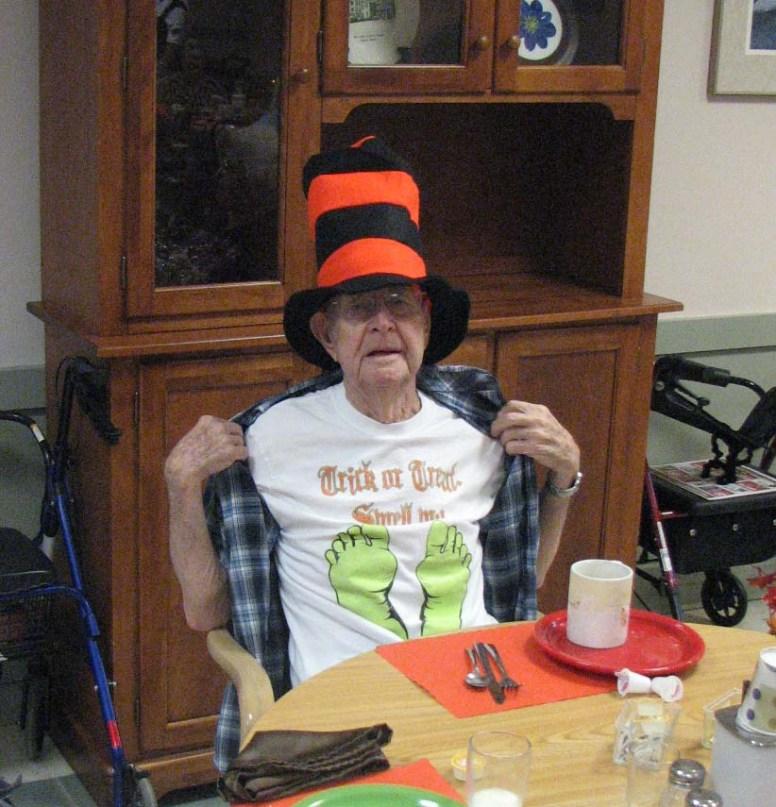 Jim has the halloween spirit!