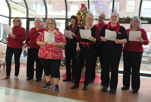Choir of devils. From left:Diane, Margaret, Rick Bev, Karen, Doreen, John, Jaime, and Nancy