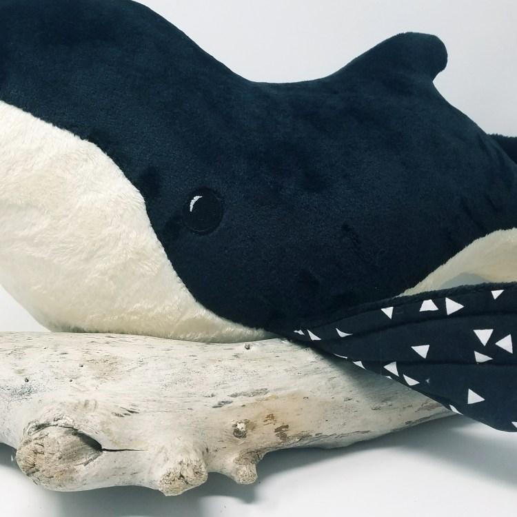 Germaine la baleine noire détail nageoire