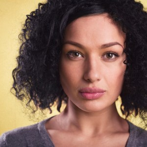 Portrait Of A Beautiful Woman With Afro Hair.