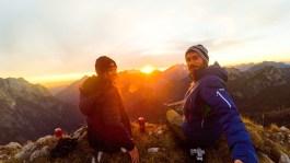 Sonnenuntergang am Mangart
